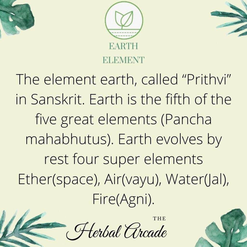 EARTH ELEMENT   HERBAL ARCADE