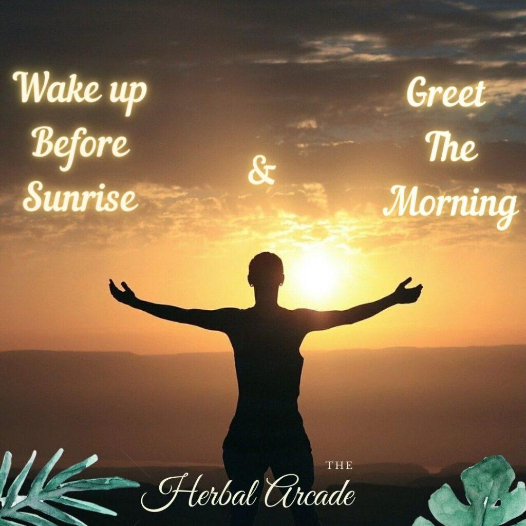 Wake up before Sunrise - Dincharya   HerbalArcade