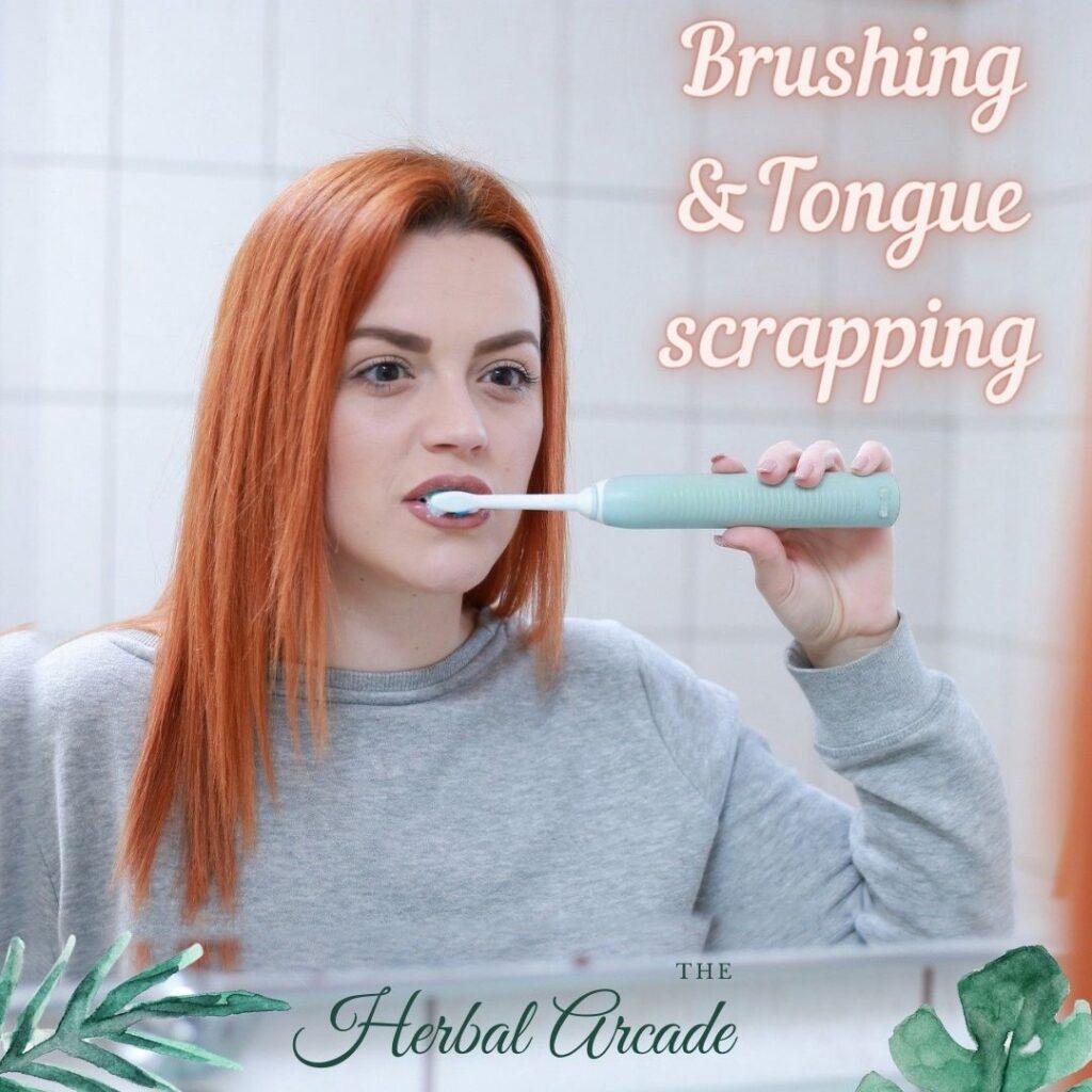 Brushing & tongue scrapping: Dincharya   HerbalArcade