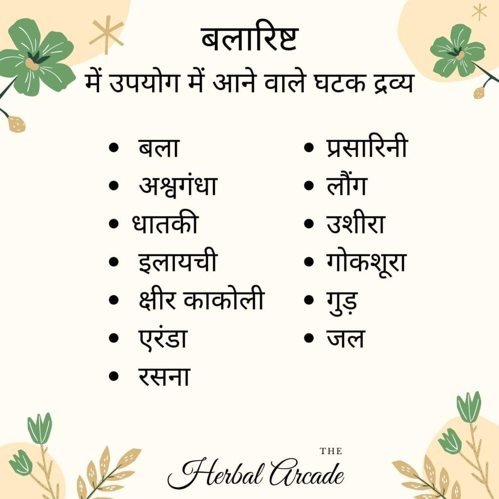 Balarishta contents herbal arcade