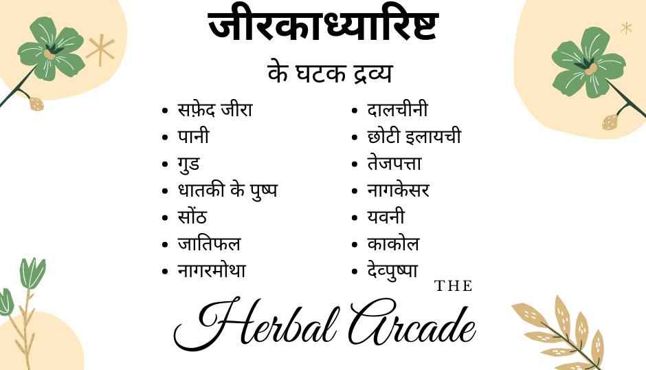 jeerkadyarishta contents herbal arcade